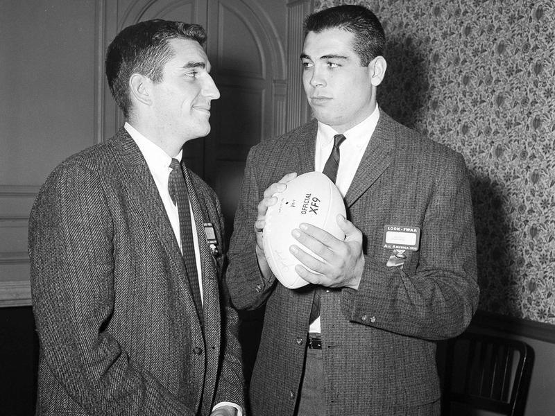 Randy Duncan, left, and Joe Kapp