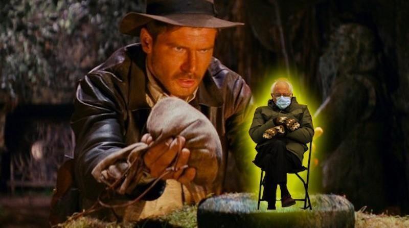 Bernie Sanders in Raiders of the Lost Ark