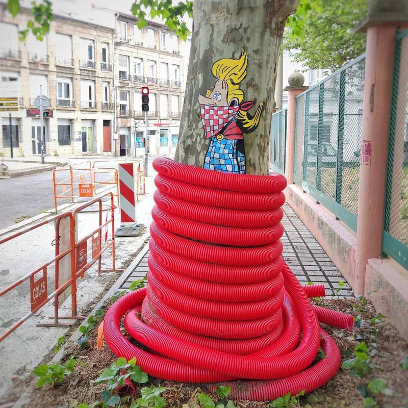 Creative street art in France