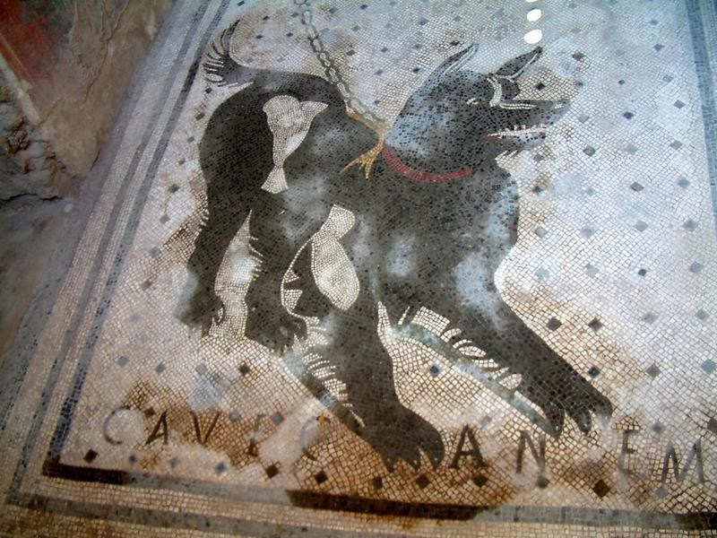 Roman dog sign