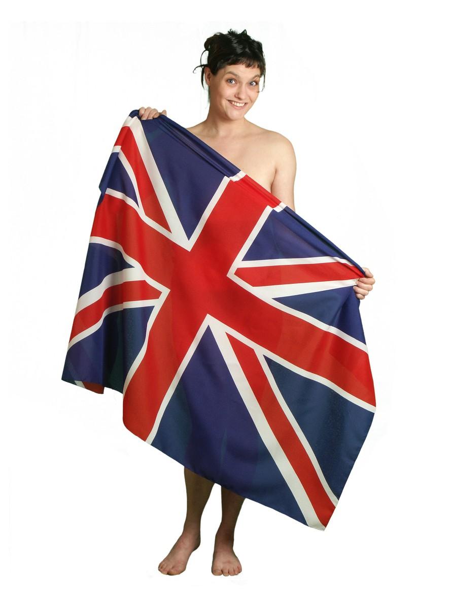 Woman and an English flag