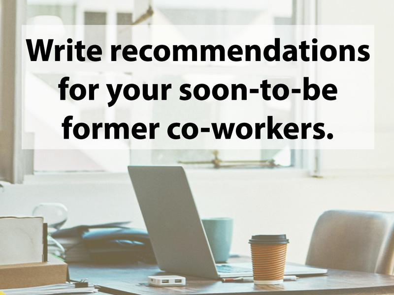 Recommendations for coworkers
