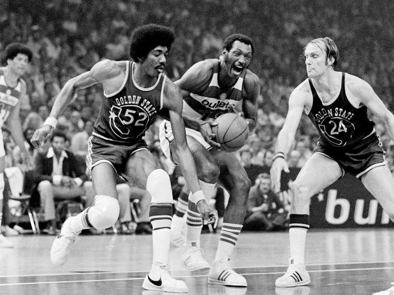 Elvin Hayes, George Johnson and Rick Barry