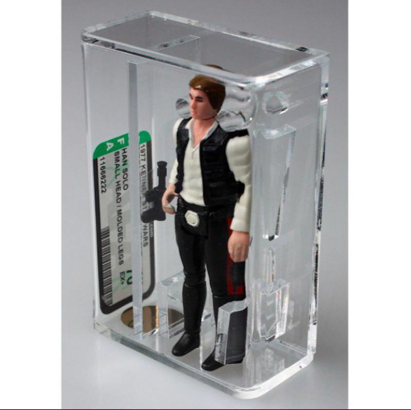 """Han Solo """"Small Head"""" figure in case"""