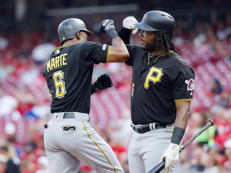 Starling Marte and Josh Bell