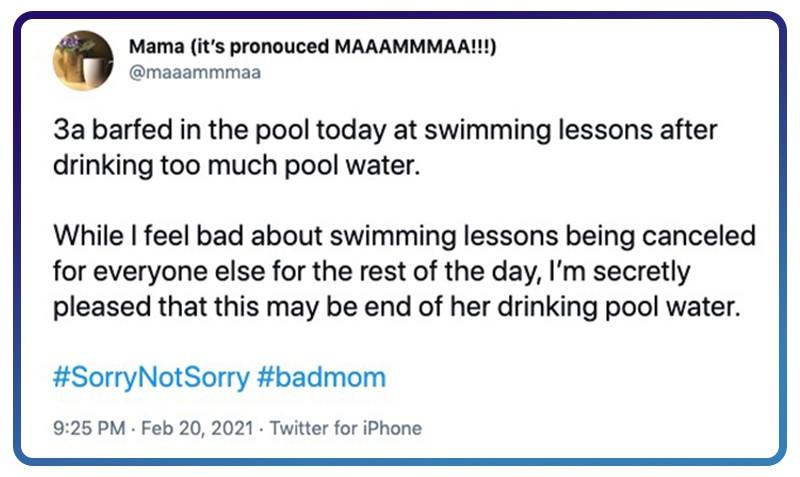 drinking pool water