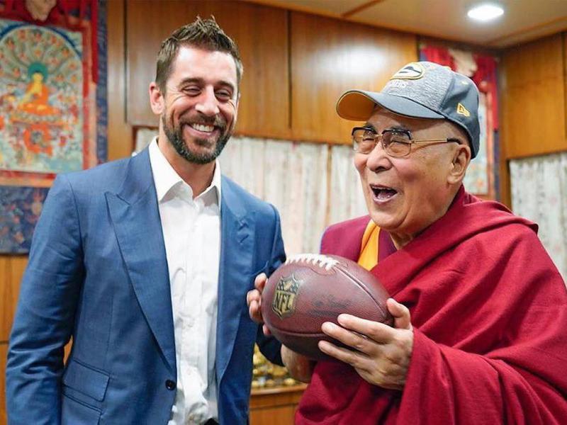 Dalai Lama and Aaron Rodgers