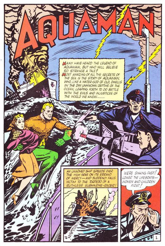First appearance of Aquaman