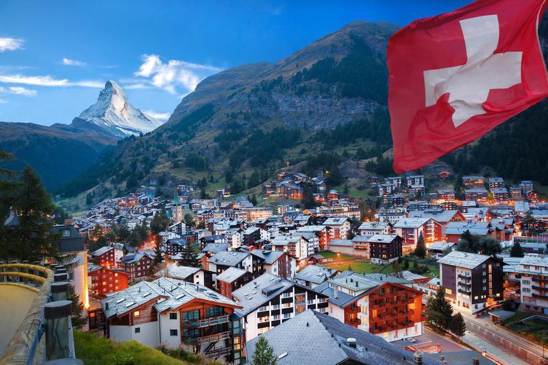 Zermatt village in Switzerland