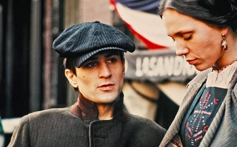 Robert De Niro looking out in The Godfather, Part II
