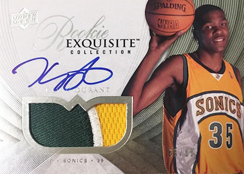 Kevin Durant 007-08 Upper Deck rookie card