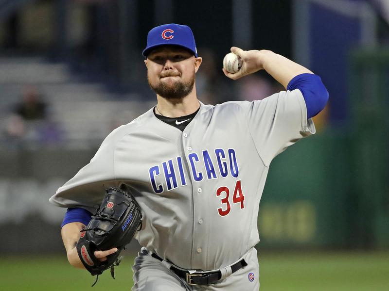 Chicago Cubs starting pitcher Jon Lester