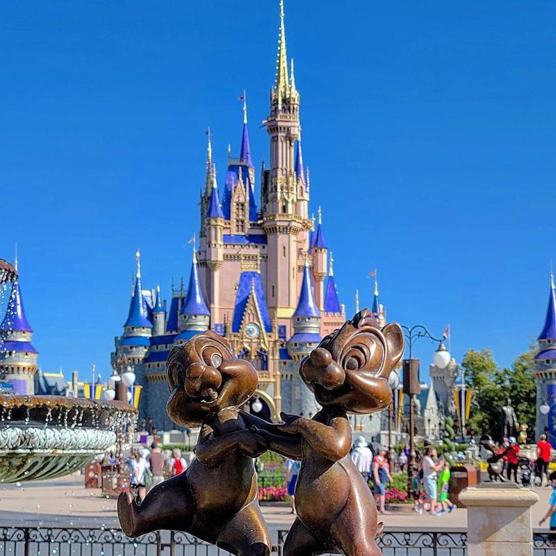 Statue of Chipmunks at Disneyland