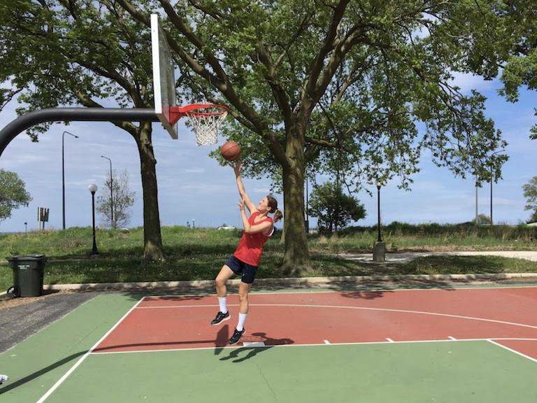 Woman playing at Jackson Park Basketball Court