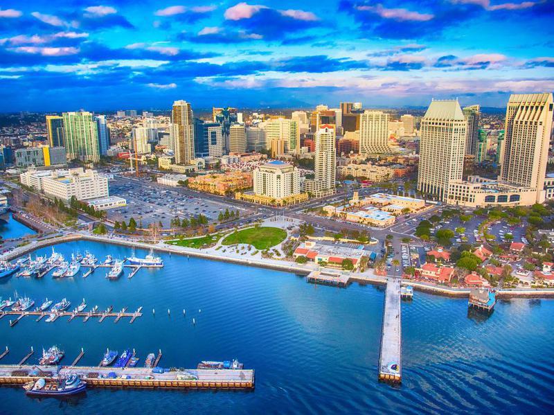 Downtown San Diego Skyline Aerial