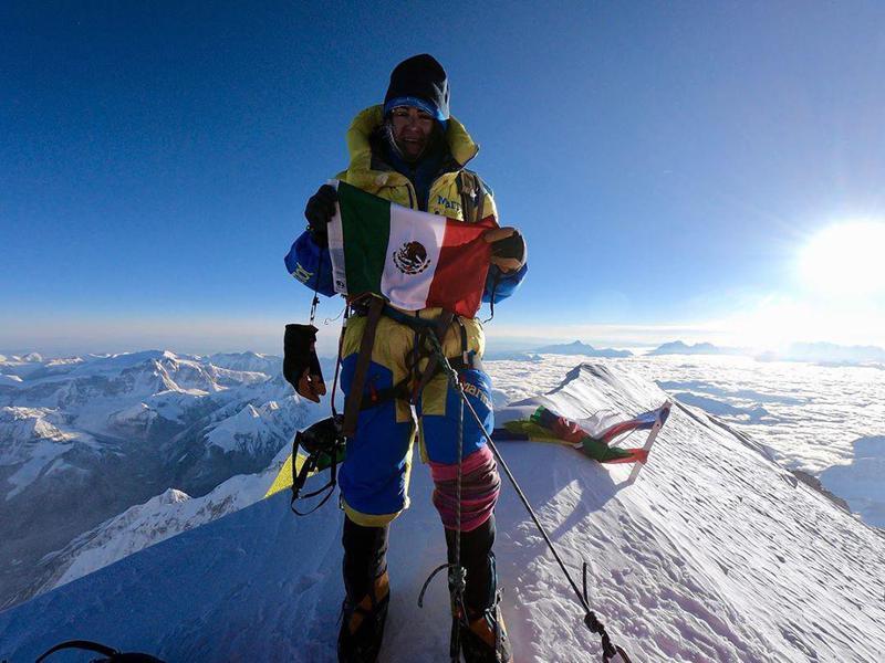 Woman at Summit of Kangchenjunga