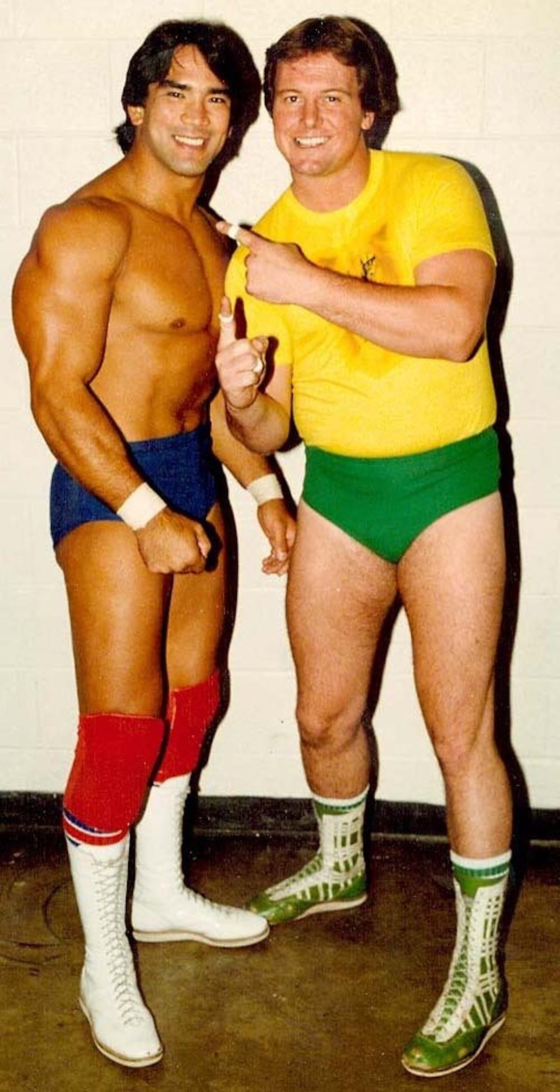 "Ricky ""The Dragon"" Steamboat and Rowdy Roddy Piper"