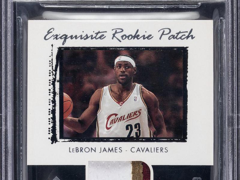 LeBron James 2003 Upper Deck Exquisite Collection Rookie Patch Autographs card