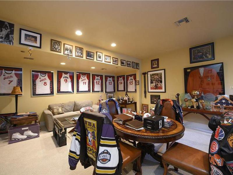 Shaq's sports memorabilia room