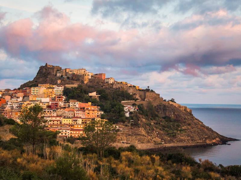 Medieval town Castelsardo, Sardinia, Italy