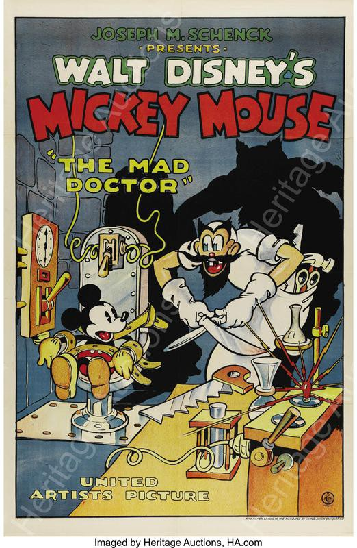 Mad Doctor Mickey Mouse poster