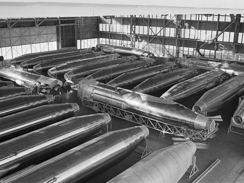 Old decommissioned nuclear warheads