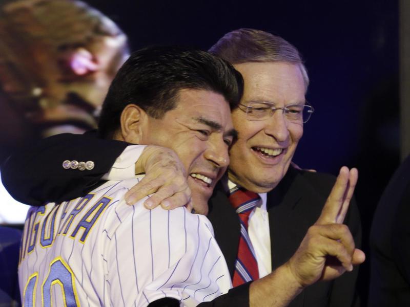 Teddy Higuera and Bud Selig