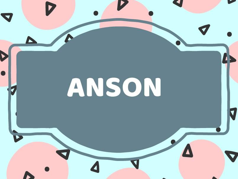 Unique Baby Boy Names: Anson