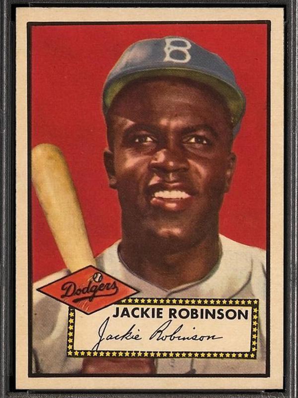 Jackie Robinson 1952 Topps card