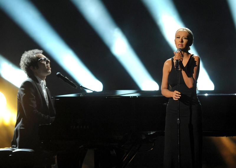 Christina Aguilera sings at the American Music Awards in Los Angeles in 2013.