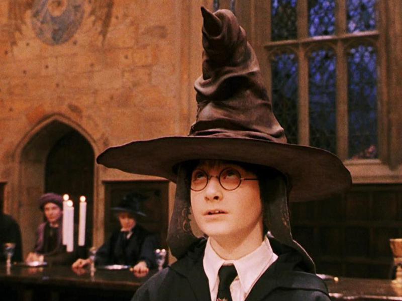 Alan Rickman, Richard Harris, Ian Hart, Daniel Radcliffe, and Zoë Wanamaker in Harry Potter and the Sorcerer's Stone (2001)