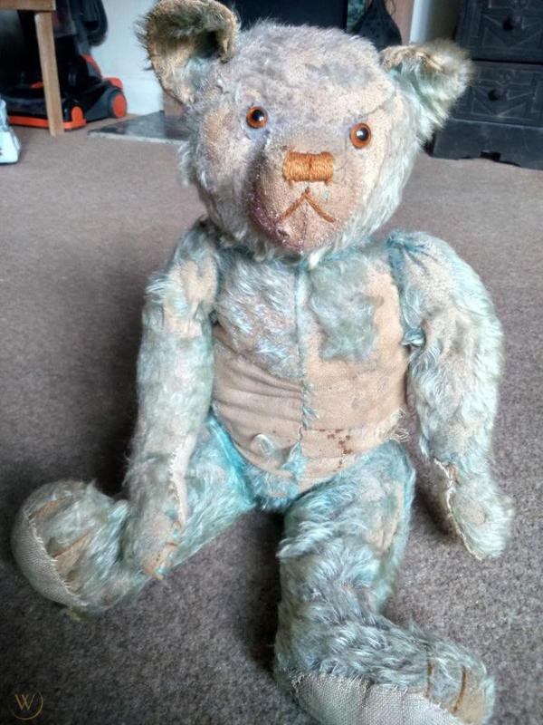 Teal Blue English Farnell Teddy Bear