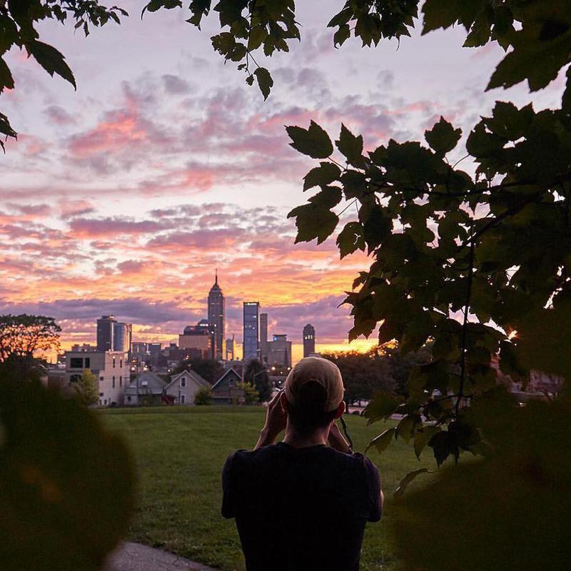 Highland Park at sunset