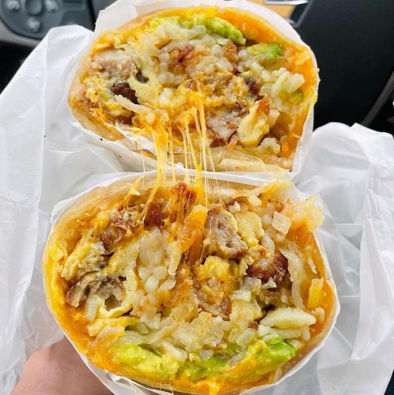 And Waffles breakfast burrito