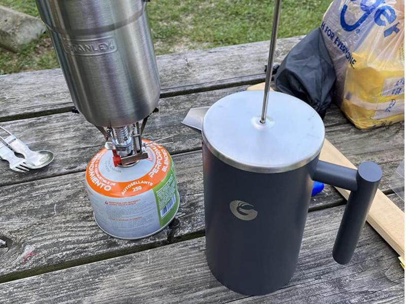 French press coffee maker for camping