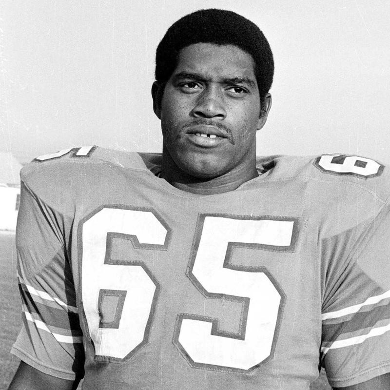Elvin Bethea with the Oilers