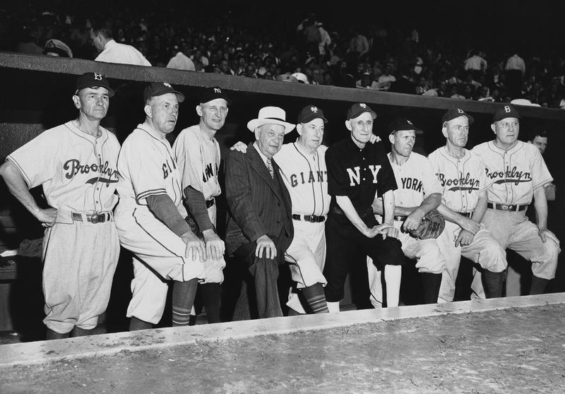 Herb Pennock with New York baseball heroes