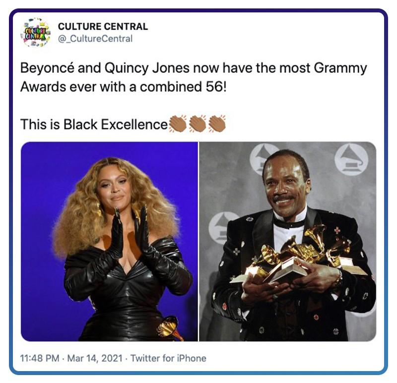 Twitter Beyoncé and Quincy Jones