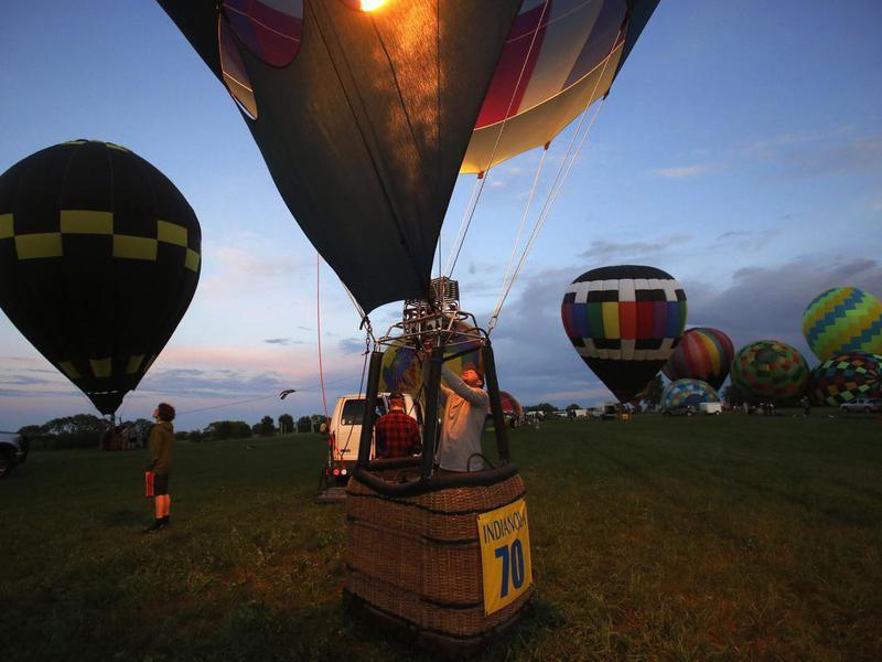 Hot air balloon festival in Indianola, Iowa
